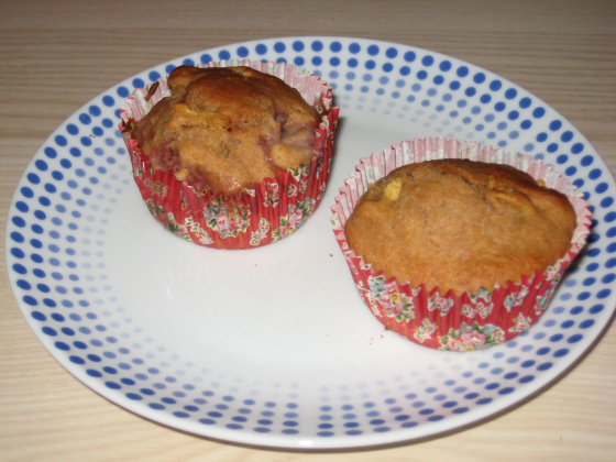 Zuckerfrei Apfel Erdbeer Muffin