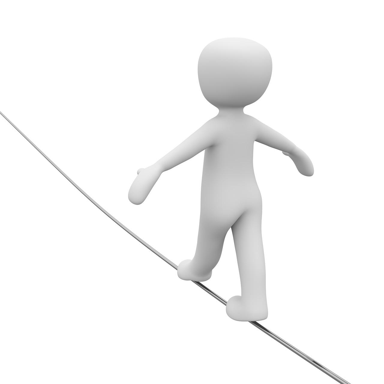 Gleichgewicht Balance Seiltänzer
