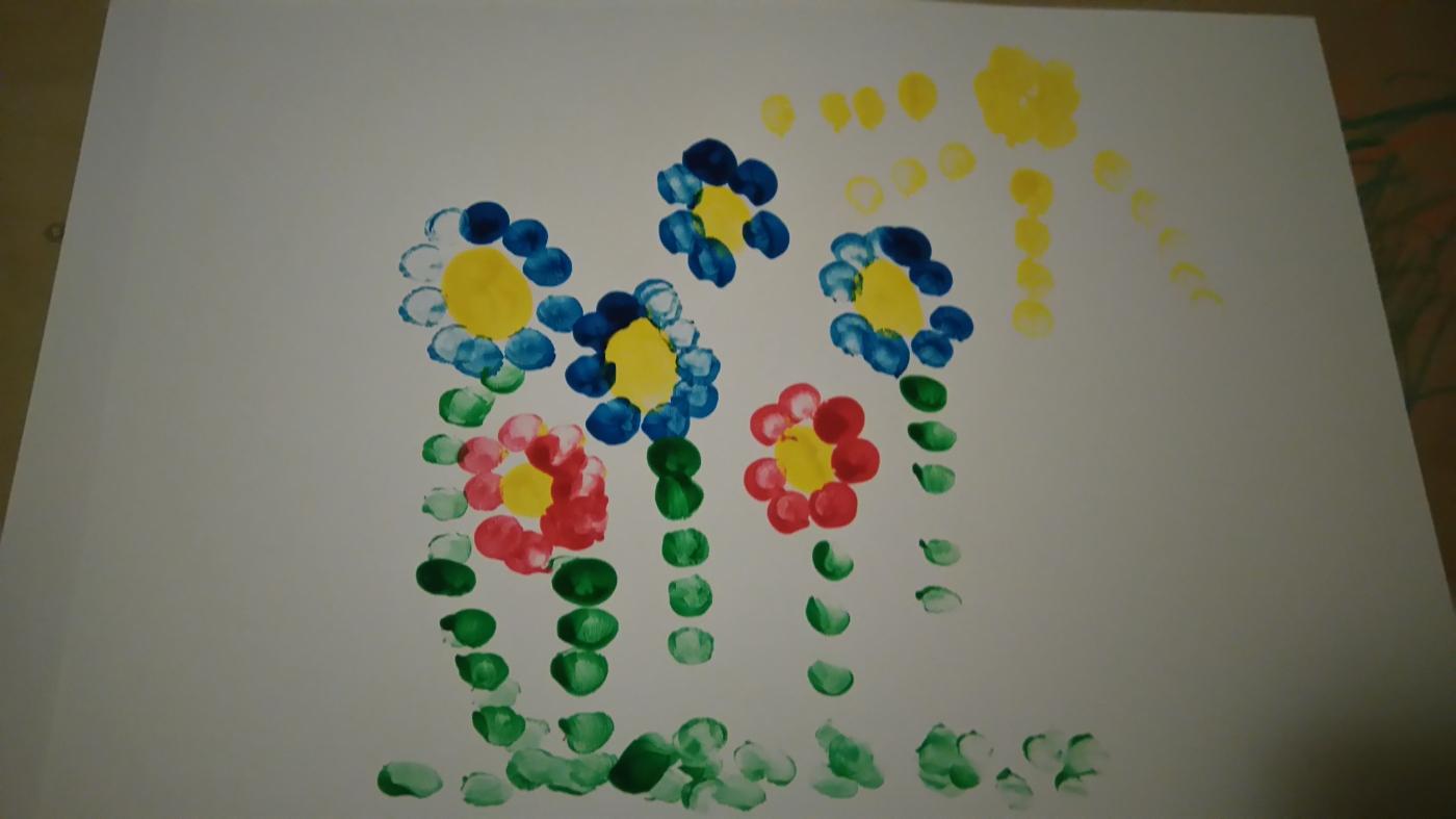 Ostern Blumen Malen