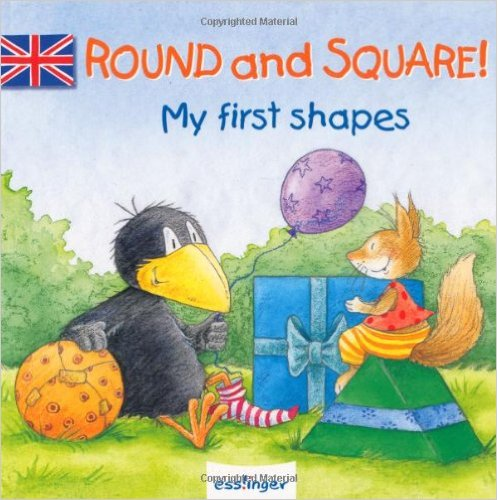 Round and Square Buch Englisch Formen Rabe Socke