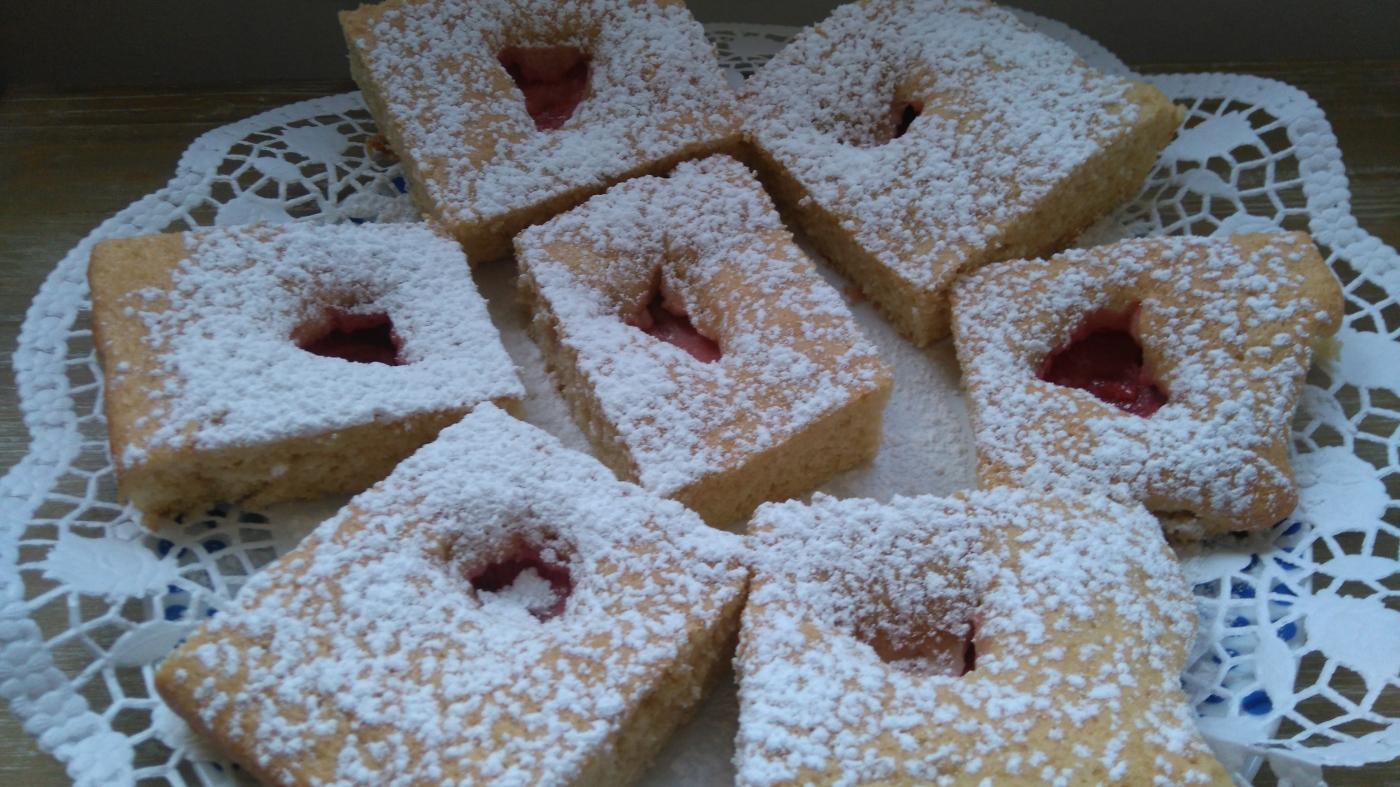 Kuchen Biskuit Erdbeer