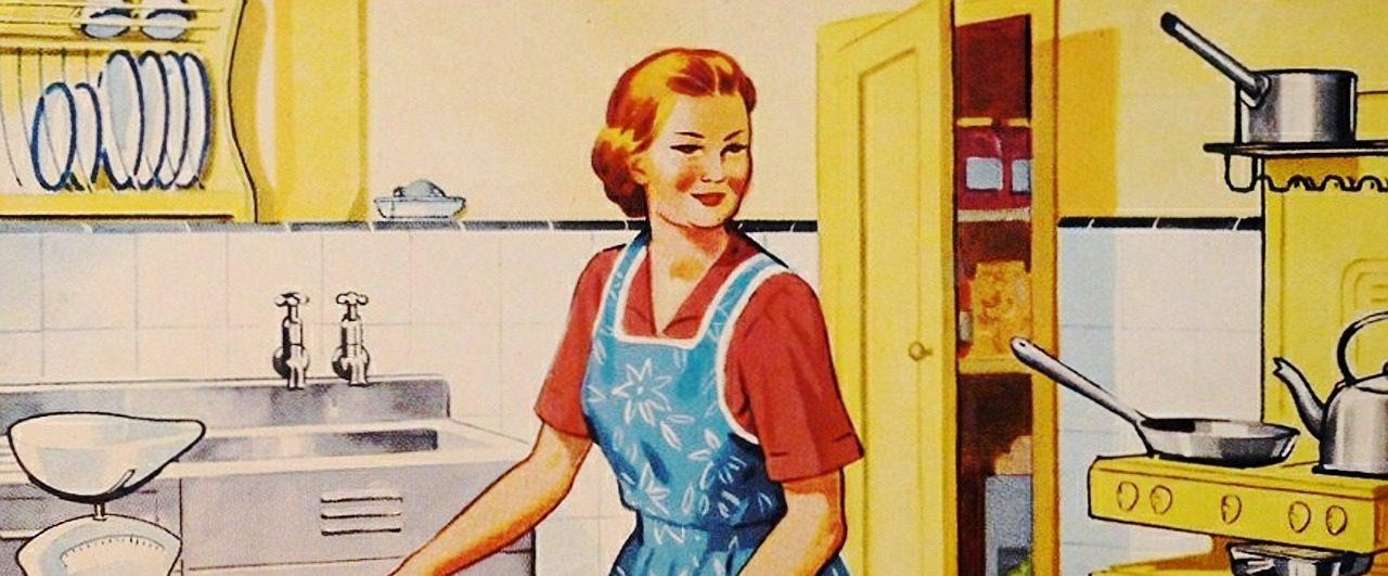 Haushalt Hausfrau Mutter altmodisch retro