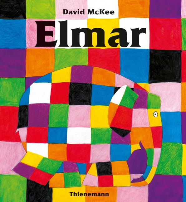 Elmar Elefant bunt kariert Buch