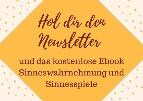 Newsletter und Ebook Sinneswahrnehmung