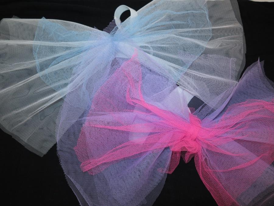 Faschingskostüm DIY Flügel weiß und blau, rosa und lila, für Feen, Elfen, Schmetterlinge, Bienen, ...